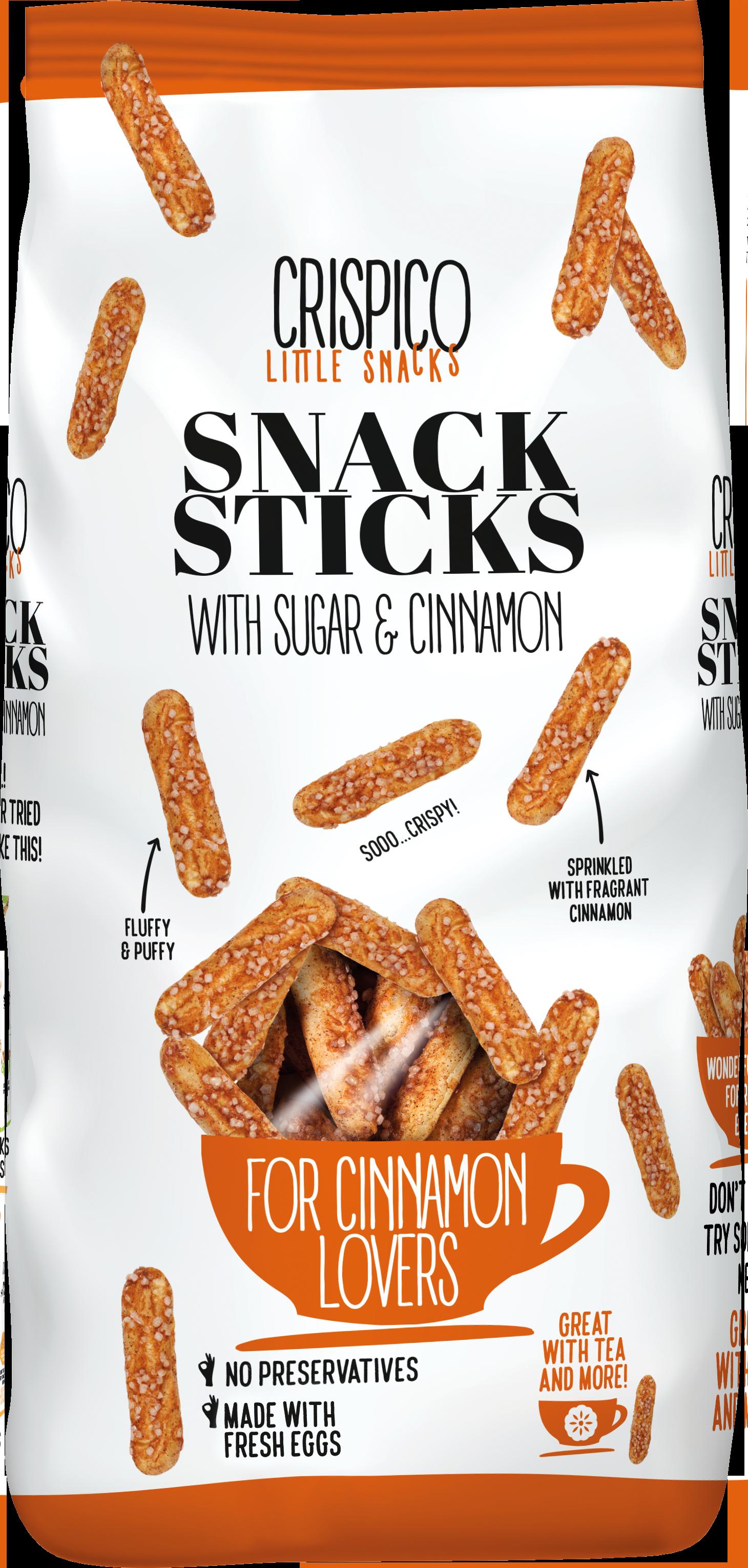 Crispico snack sticks with cinnamon