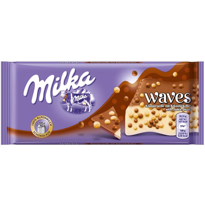 Milka Waves choc 81g